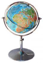 Рельефный глобус на хромированной подставке купить