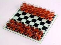 """Игра настольная """"Пьяные шахматы"""", доска - стекло, стопки - стекло, 32 стопки, 350 х 350 мм купить"""