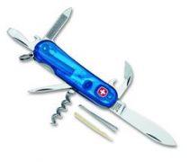Нож складной WENGER Evolution 10, синий прозрачный, 85 мм купить