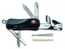 """Нож складной WENGER Nail Clip ST 580.814, черный """"мягкая резина"""", 65 мм купить"""