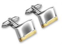 Запонки S.Quire, никель, серебристо-золотистого цвета купить