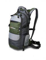 Рюкзак WENGER, серый/зеленый/серебристый, полиэстер 210D PU, 23х18х47 см, 22 л купить