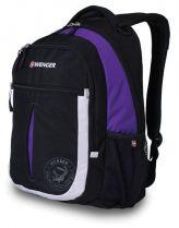 Рюкзак WENGER, чёрный/фиолетовый/серебристый, полиэстер 600D, 32х15х45 см, 22 л купить