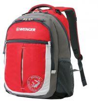 Рюкзак WENGER « MONTREUX» цв. серый/красный, полиэстер 600D, 34х17х46 см купить