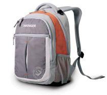 Рюкзак WENGER, серый/оранжевый, полиэстер 600D, 32х15х45 см, 22 л купить