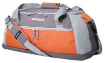 Сумка спортивная WENGER, серый/оранжевый, полиэстер 600D, 61х31х26 см, 49 л купить