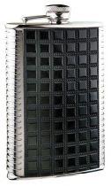 Фляга S.Quire 0,24 л, сталь+искусственная кожа, вставка черная с рисунком, D-Pro купить