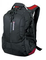 Рюкзак WENGER, черный/красный, полиэстер 1200D, 36х17х50 см, 30 л купить