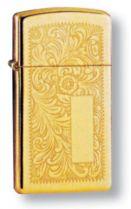 Зажигалка ZIPPO High Polish Brass, латунь, золотистый, глянцевая, 30х55х10 мм купить