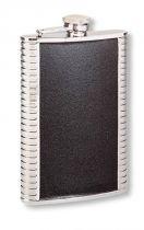Фляга S.Quire 0,27 л, сталь+натуральная кожа, вставка черная купить