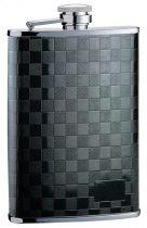 Фляга S.Quire 0,27 л, сталь, черный цвет с рисунком купить