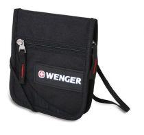 Кошелёк на шею WENGER, чёрный, полиэстер 600D, 14х2х16 см купить
