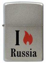 Зажигалка ZIPPO Flame Russia  Satin Chrome, латунь с ник.-хром. покрыт.,сереб.,матовая, 36х56х12мм купить