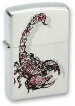 Зажигалка ZIPPO Scorpion Satin Chrome, латунь с никеле-хром. покрыт., серебр., матовая, 36х56х12 мм купить