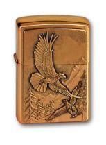 Зажигалка ZIPPO Eagles, латунь с покрытием Brushed Brass, золотистый, матовая, 36х12x56 мм купить