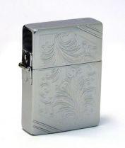 Зажигалка Zippo Classic, латунь с покрытием Brushed Chrome, серый, матовая, 36х12x56 мм купить