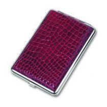 Портсигар S.Quire, сталь+искусственная кожа, красный цвет с рисунком, 74*115*18 мм купить