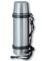 Термос S.Quire 1 л, узкий, сталь, с черным ремешком купить