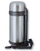 Термос S.Quire 1,4 л, широкий, сталь, с черным ремешком купить