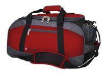 Сумка спортивная WENGER, красный/серый/чёрный, полиэстер 1200D, 52х25х30 см, 39 л купить