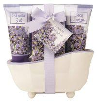 """Набор подарочный Accentra Lavender серии """"Flowers"""", 4 предмета. Аромат лаванда. купить"""