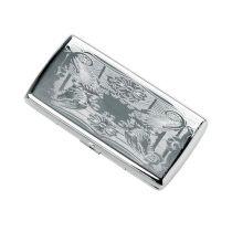 Портсигар металл. 10.8х5.5х2 см купить