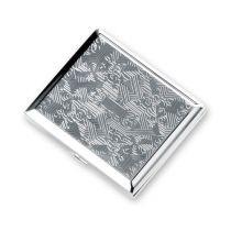 Портсигар S.Quire, сталь, серебристый цвет с рисунком, 94*80*18 мм купить