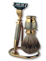 Бритвенный набор S.Quire: станок, помазок, подставка; золотисто-серебристый купить