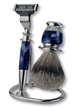 Бритвенный набор S.Quire: станок, помазок, подставка; синий купить