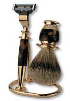 Бритвенный набор S.Quire: станок, помазок, подставка; коричневый перламутр купить