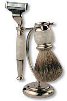 Бритвенный набор S.Quire: станок, помазок, подставка; белый перламутр купить