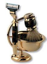 Бритвенный набор S.Quire: станок, помазок, чаша, подставка; коричневый перламутр купить