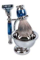 Бритвенный набор S.Quire: станок, помазок, чаша, подставка; синий перламутр купить