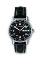 Часы COMMANDO DAY DATE черный циферблат, стальной корпус, стальной браслет купить