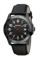 Часы ALPINE, чёрный циферблат, стекло с сапф. покр., корпус с PVD покр., резиновый ремешок купить