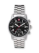 Часы COMMANDO CHRONO черный циферблат, стальной корпус, стальной ремешок купить