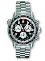 Часы COMMANDO RACING TEAM, черный циферблат,  стальной корпус, браслет купить