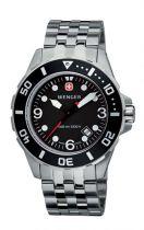 Часы AQUAGRAPH, чёрный циферблат, стекло с сапф. покр., стальн. корпус и браслет купить
