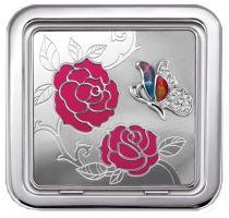 Зеркало косметическое квадратное «Розовый куст» купить