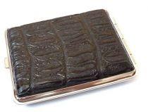 Портсигар S.Quire, сталь+искусственная кожа, черный цвет с рисунком, 74*95*18 мм купить
