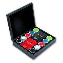 Набор:  игральные карты (2 колоды), фишки (90  шт), 22*18 см. купить