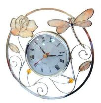 """Часы """"стрекоза с розой"""" купить"""