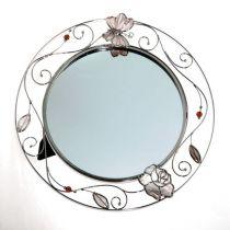 """Зеркало """"бабочка с розой"""" купить"""