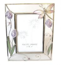 """Рамка для фотографии 10х15, """"стрекоза с тюльпанами"""" купить"""