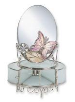 """Зеркало с шкатулкой """"Фиолетовая бабочка"""" купить"""