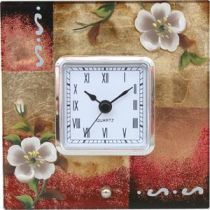 """Часы квадратные """"Белые цветы"""" купить"""