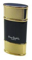 """Зажигалка """"Pierre Cardin"""" газовая турбо, сплав цинка, черный лак/золото, 3,4х1,6х7 см купить"""