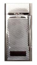 """Зажигалка """"Pierre Cardin"""" газовая кремниевая, сплав цинка, серебро с насечкой, 3,5х0,9х6,9 см купить"""