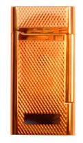 """Зажигалка """"Pierre Cardin"""" газовая кремниевая, сплав цинка, золото с насечкой, 3,5х0,9х6,9 см купить"""