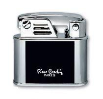 """Зажигалка """"Pierre Cardin"""" газовая кремниевая, сплав цинка, черный лак/серебро, 4,4х1,5х4,4 см купить"""